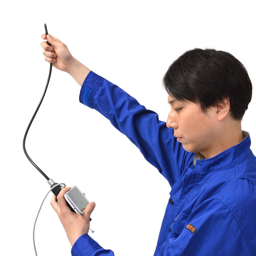 【予約商品】先端可動式USB工業用内視鏡 WOSCRADJ ※ご注文後約1.5〜2ヶ月でお届け!
