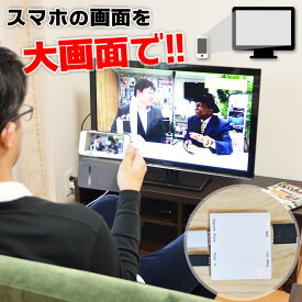 HDMIビデオ出力アダプタ for iPhone LGHTHDM3 iPhone アイフォン スマホ スマートフォン 動画 画像 TV テレビ iOS 大画面 簡単設定