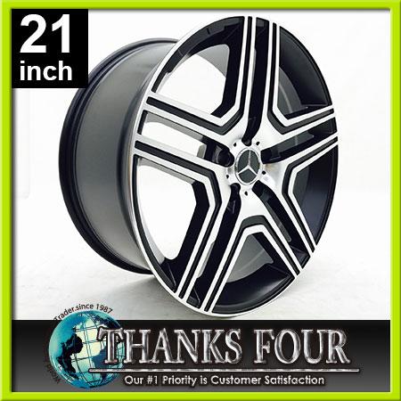 【新品・即納品】VT759 マットブラックマシーンドベンツ W463 Gクラス ゲレンデ21x10J 5Hx130 +40 84.1【21インチアルミホイールタイヤ付き4本セット】