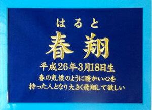 【命名刺繍額】男の子に人気!ブルーベース/額(フレーム)ブルー