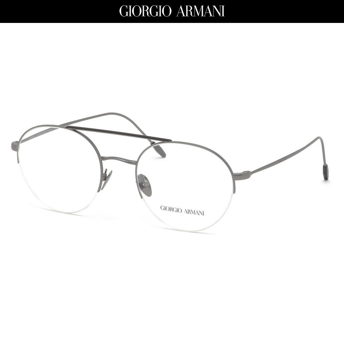 ポイント最大33倍 GIORGIO ARMANI ジョルジオアルマーニ メガネAR5066 3003 51サイズアルマーニ ツーブリッジ ハーフリム ナイロールジョルジオアルマーニGIORGIOARMANI メンズ レディース