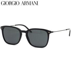 GIORGIO ARMANI ジョルジオアルマーニ サングラス AR8111 500187 54サイズ アルマーニ コンビネーション 軽い キーホールブリッジ ブラック 黒 グレーレンズ おしゃれ ジョルジオアルマーニGIORGIOARMANI メンズ レディース
