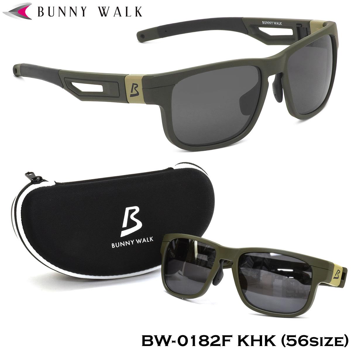 BUNNY WALK バニーウォーク サングラスBW-0182F KHK 56サイズBW0182F BW-018 BW018 Lサイズ 偏光サングラス 偏光レンズ スクエア ポリカーボネートバニーウォーク BUNNYWALK メンズ レディース