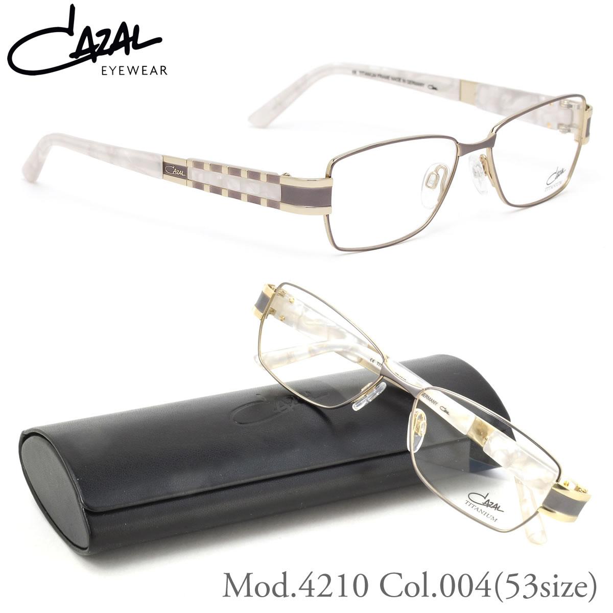 ほぼ全品ポイント15倍!最大34倍!【CAZAL】(カザール) メガネ フレーム 4210 004 53サイズ スクエア チタン カザール CAZAL メンズ レディース