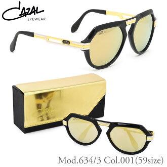 到要點最大16倍3月17日星期五9:59(CAZAL)太陽眼鏡634/3 001 59尺寸LEGENDS rejienzu DELUXE華麗限定式樣Limited Edition泪珠平滑透鏡24K名流CAZAL人分歧D