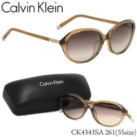 カルバンクライン Calvin Klein サングラス CK4343SA 261 55サイズ CK オーバル フルフィット カルバンクライン CalvinKlein メンズ レディース