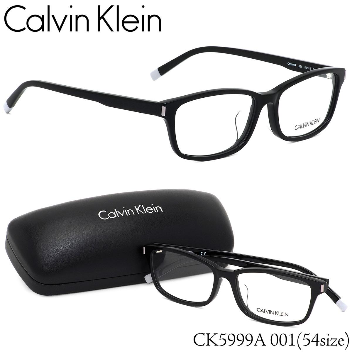 ほぼ全品ポイント15倍〜最大34倍+4倍! カルバンクライン Calvin Klein メガネCK5999A 001 54サイズck ウエリントン ブラックカルバンクライン CalvinKlein メンズ レディース