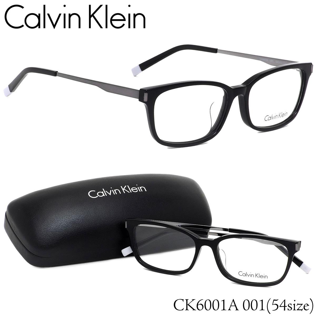 【お盆も発送します】 カルバンクライン Calvin Klein メガネCK6001A 001 54サイズck ウエリントン コンビネーション ブラックカルバンクライン CalvinKlein メンズ レディース