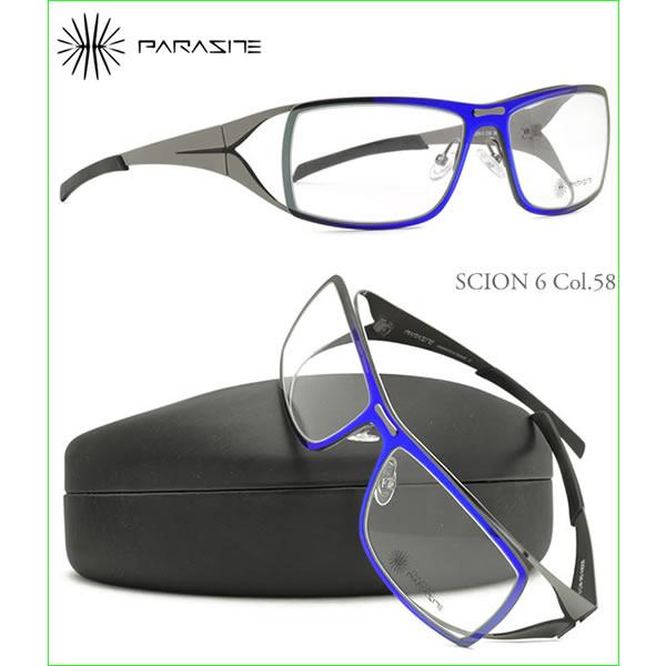 【訳あり】【ランクC】【未使用品】PARASITE パラサイト メガネ SCION6 58 56サイズ パラサイト PARASITE メンズ レディース