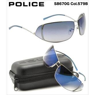 警察太阳眼镜S8670G 579B 69尺寸警察POLICE人分歧D