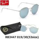 レイバン サングラス ミラー ラウンドメタル Ray-Ban RB3447 019/30 53サイズレイバン RAYBAN ROUND FLASH LENSES 01…