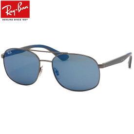 Ray-Ban レイバン サングラスRB3593 004/55 58サイズダブルブリッジ ツーブリッジ ラバー コンビネーション ブルー ミラー メンズ レディース