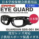 SWANS スワンズ EYE GUARD アイガード キッズ用メガネ GDS-001 BK 50サイズ 日本製 キッズ 子供用 子ども スポーツ 安…