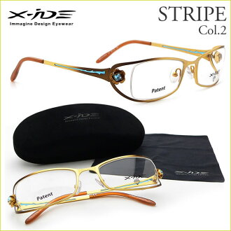 X-ide(ekusaido)眼镜架子STRIPE 2