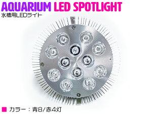 交換球 LED スポットライト 青8赤4 照射角60度 水槽用照明 LED照明 LEDライト 【アクアリウム 熱帯魚 淡水魚 海水魚 水草 サンゴ イソギンチャク ミドリイシ シャコガイ 観賞魚 水槽 レイアウト