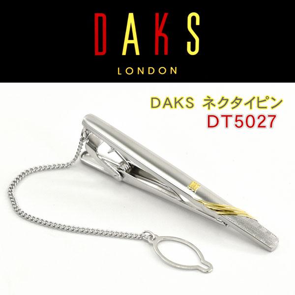 【DAKS】ダックス ネクタイピン 専用ボックス付き ロジウムメッキ DT5027