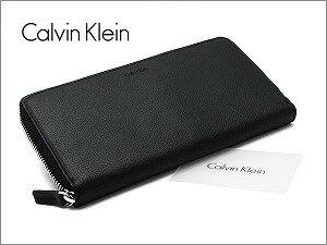 Calvin Klein カルバンクライン 財布 ウォレット メンズ ラウンドファスナー長財布 ブラック 79442【ネコポス不可】