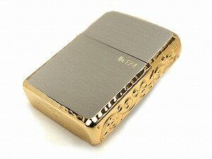 ZIPPO ジッポ ライター アーマー 3面彫刻 サイドゴールド 金 GOLD オイルライター 162-3MEN-SG【メール便可能】【あす楽】