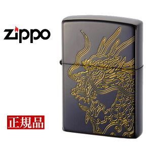 【ZIPPO】 ジッポー オイルライター ジャパネスクプレミアム 龍 ブラック×ゴールド JPNXP-RYU