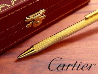 """必须德卡地亚的圆珠笔与""""MILLERAIES""""装饰必须德卡地亚轧机装饰圆珠笔黄色金 ST150288"""