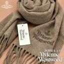 11月限定ポイント10倍♪【送料無料】Vivienne Westwood 2020年新作 ヴィヴィアンウエストウッド ヴィヴィアン マフラー レディース ロゴ入り ストール 無地 ジュタ JUTA VV20-B001-JUTA