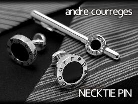 【andre courreges】アンドレ・クレージュ ネクタイピン オニキス ブラック ACT5201【セットではありません】
