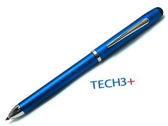 十字交叉科技 3 + TeX 李加上双色圆珠笔 + 铅笔手写笔在 0090plus 8 AT0090 8 黑色和红色 (红色) 复合钢笔金属蓝色 / 多功能笔 / 球 (流行) 的钢笔铅笔 + 笔名