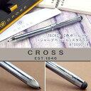 CROSS クロス TECH3+ テックスリープラス 2色ボールペン+シャープペンシル+スタイラス フロスティスティールラッカー AT0090plus-14 AT0090-14 ブラック(黒)/レッド