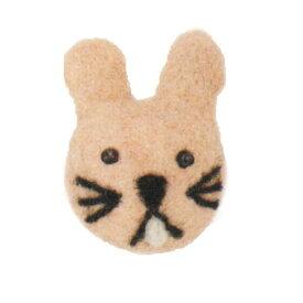 【Mococoフェルトマグネット ウサギ NP-MG8-D】可愛いうさぎ柄のマグネット※DM便不可[Mark's][M在庫-2-E4]