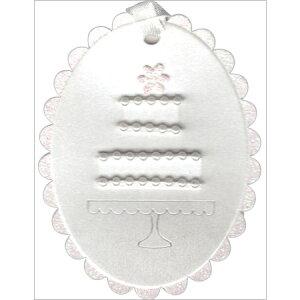 【ラッピングタグ ウェディングケーキ 57-0004】ギフトに添える、可愛いタグ・ブックマークとしても※16個までネコポス便可能[MeriMeri][M在庫-2-F6]