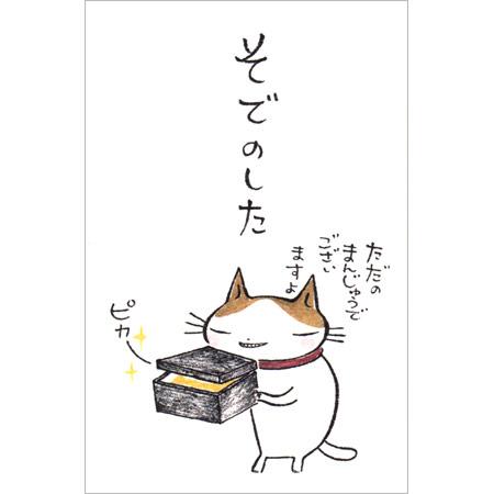 【多目的ぽち袋 そでのした 5枚入り 31146012】猫のイラストがかわいいぽち袋※32冊までDM便可能[紙ING][M在庫-2-E9]