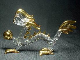クリスタル 皇帝龍 M<風水グッズ・開運グッズ・幸運の置物>ハンドメイド〜力の源である宝玉を持つ5本指のエンペラードラゴン・龍の置物・辰年の干支グッズ 龍 置物 クリスタル 龍の置物