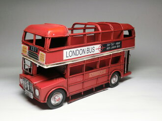 古色古香的倫敦青睞錫玩具內部兩層雙層 (雙層) 雙層 (馬路)