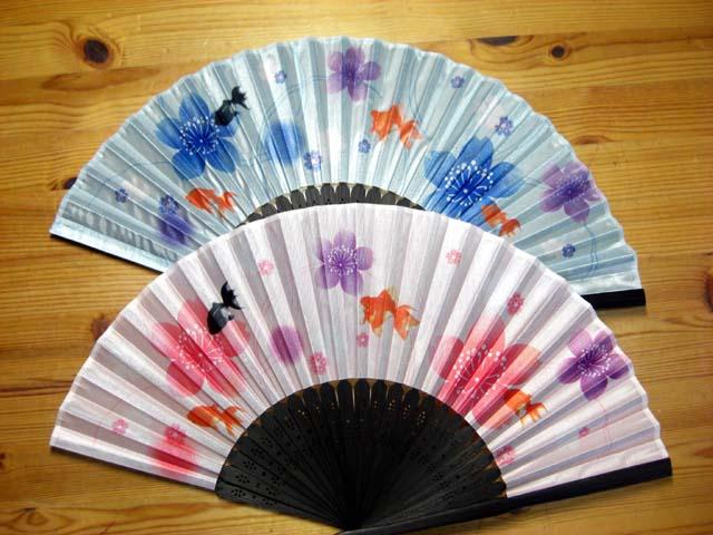 桜金魚扇子<扇子袋付き>夏のクールビズアイテム☆節電グッズ センス(メール便対応可)