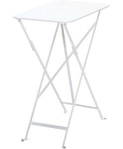 ビストロテーブル37×57 カラー:ホワイト ガーデンファニチャー フェルモブ Bistro ビストロ
