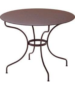 オペラテーブルΦ96cm カラー:ブラウン ガーデンファニチャー フェルモブ Bistro ビストロ