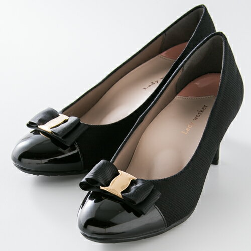 婦人靴 レディースシューズ Lady worker (レディワーカー) LO-16540 ブラック アシックス商事