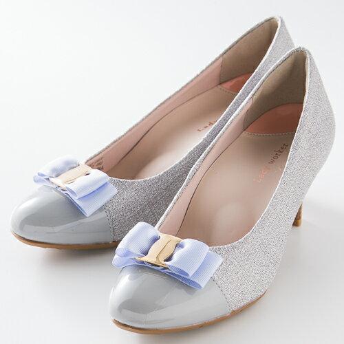 婦人靴 レディースシューズ Lady worker (レディワーカー) LO-16540 シルバー アシックス商事