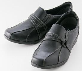 テクシー Texcy 婦人靴 レディース スリッポン カジュアル シューズ 軽量 TL-18163 ブラック 【送料無料(一部地域を除く)】