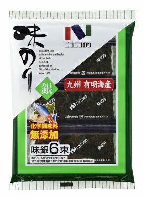 ニコニコ味のり銀6束入りまとめ買い(×10)|4902122023065:農・水加工品(c1-tc)