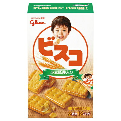 グリコ ビスコ<小麦胚芽入り> 24枚 まとめ買い(×5)|4901005120440