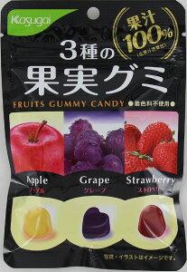 春日井 3種の果実グミ 53g まとめ買い(×10)
