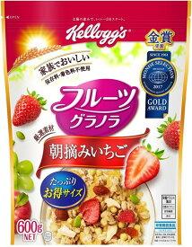 ケロッグ フルーツグラノラ朝摘みいちご 600g まとめ買い(×6)