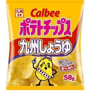 カルビー ポテトチップス九州しょうゆ 58g まとめ買い(×12) | 4901330532901