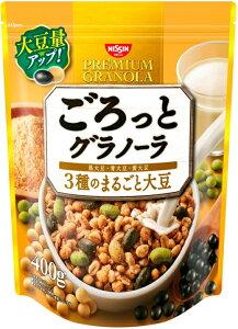 日清シスコ ごろっとグラノーラ3種のまるごと大豆 400g まとめ買い(×6)