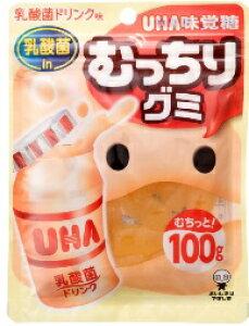 味覚糖 むっちりグミ 乳酸菌ドリンク 100g まとめ買い(×10)
