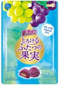 明治 果汁グミとろける果実グレープ&マスカット 52g まとめ買い(×10) ?4902777028927
