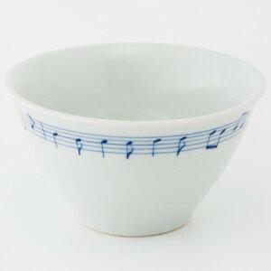 砥部焼 竹山窯 ラーメン鉢 小 音符|焼き物 やきもの 砥部 とべ 食器 器 白磁 愛媛 お土産 おみやげ