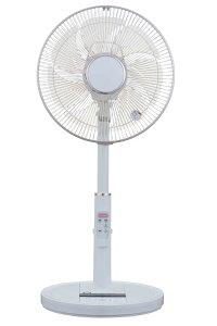 リビング扇風機 ユアサ コトバdeファン YT-DV3418VFR W(ホワイト)|4979966485809|音声操作 6段階風量調整 7枚羽根 微風
