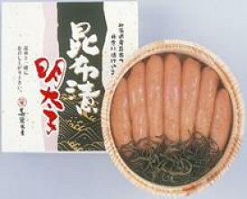 昆布漬辛子明太子(無着色) 400g木樽入(送料無料) 20509:食品(直)